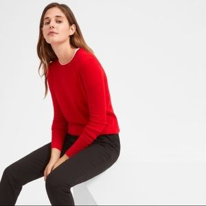 Everlane The Cashmere Crew Neck Sweater in Red